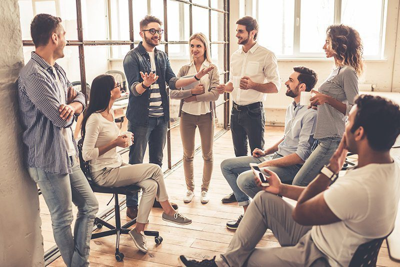 coffee break with colleagues improves workplace culture