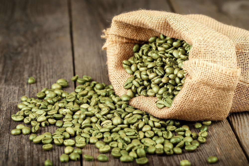Coffee beans before being roasted