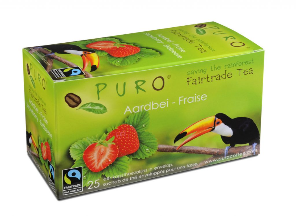 Puro Strawberry fair trade tea