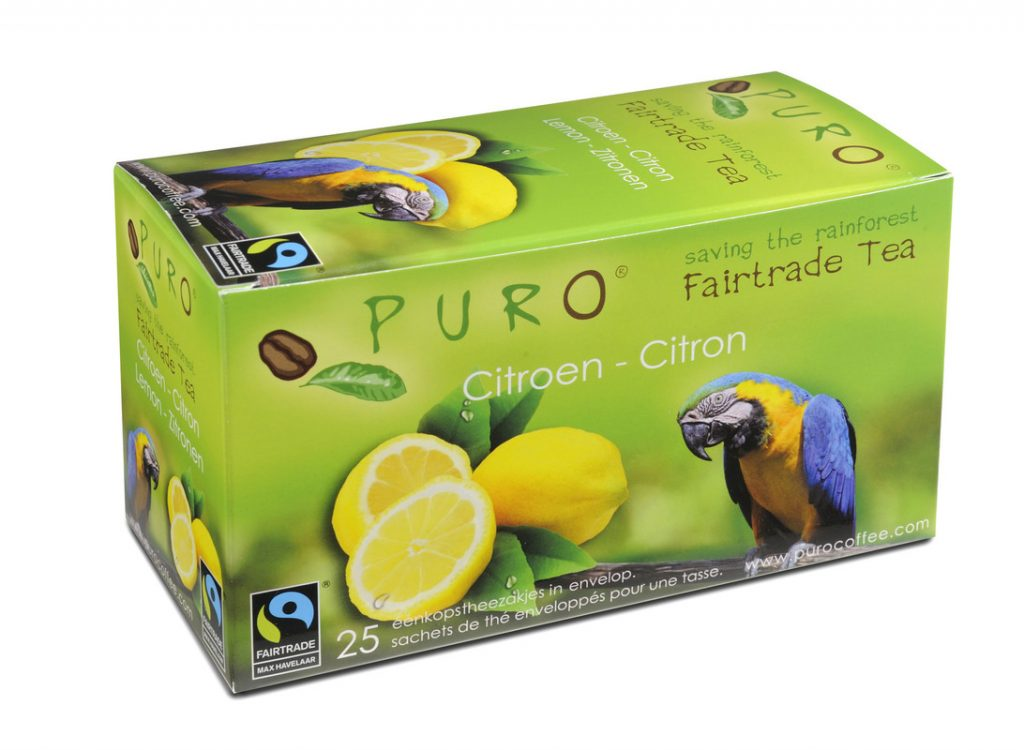 Puro Black Lemon fair trade tea