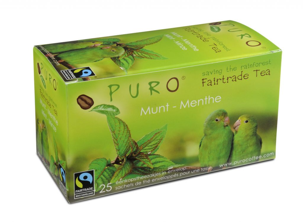 Puro Green Mint fair trade tea