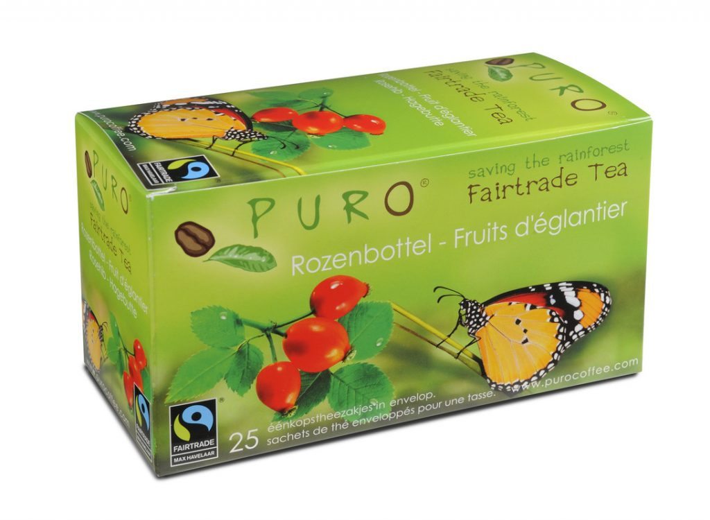 Puro Rosehip fair trade tea